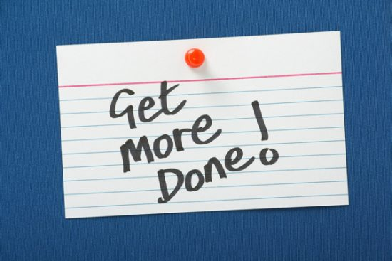 boost productivity get more done