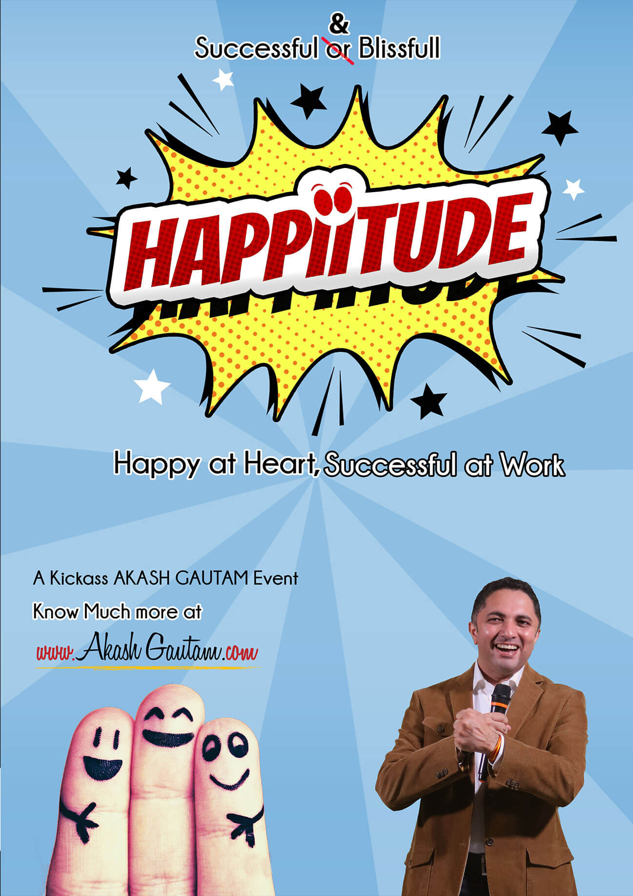 The science of Happiness Decoded by Akash Gautam. Motivational Speaker for Corporate Events in India