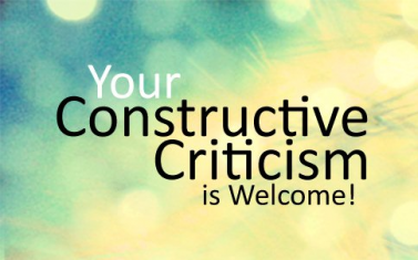 handling criticism constructively