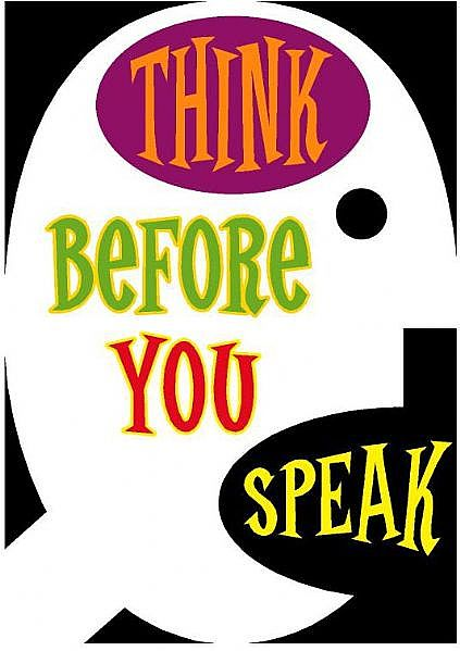 thinking before speaking