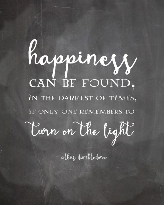 happiness quote harry potter book series inspirational