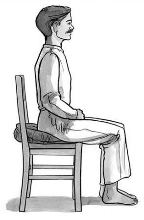how to meditate on a chair