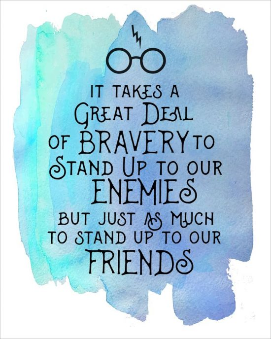 quotes on courage from harry potter book series